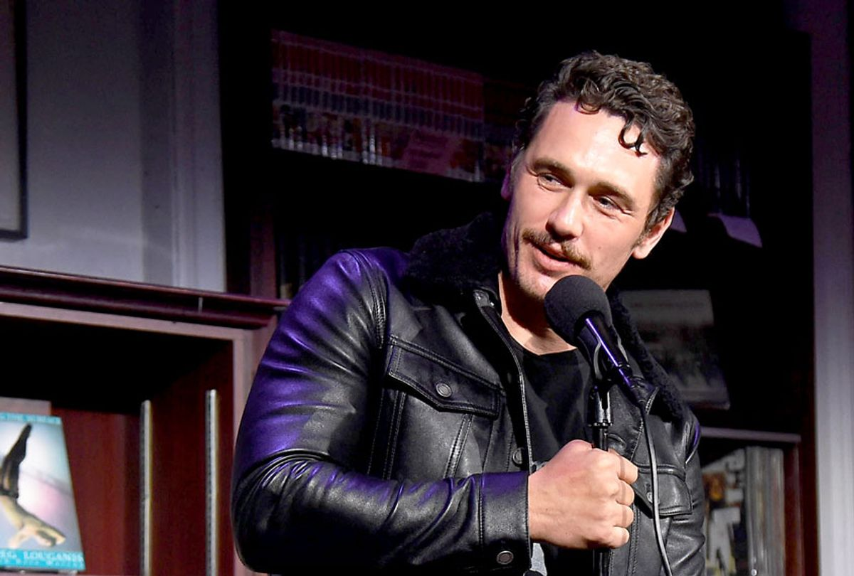 Actor James Franco does a reading onstage during 'An Evening with the Cast of HBO's The Deuce' to benefit Housing Works at Housing Works Bookstore Cafe on June 23, 2019 in New York City. (Gary Gershoff/Getty Images for Housing Works)