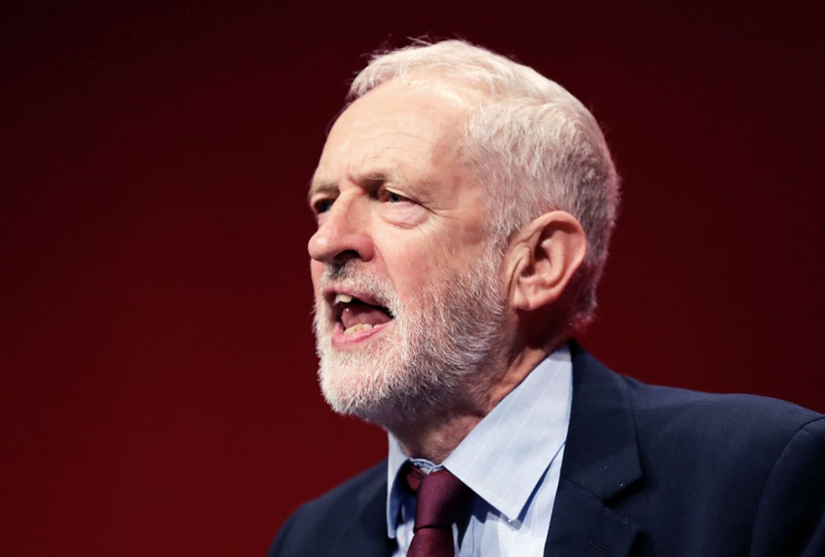 Jeremy Corbyn, leader of Britain's opposition Labour Party. (AP Photo/Kirsty Wigglesworth)