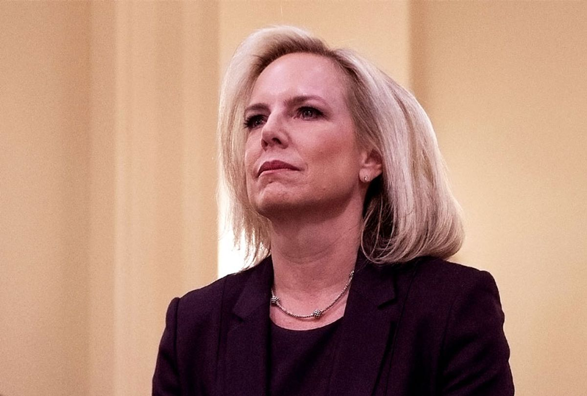 Homeland Security Secretary Kirstjen Nielsen testifies before the House Homeland Security Committee on border security on Capitol Hill in Washington, DC, March 6, 2019.  (JIM WATSON/AFP/Getty Images)