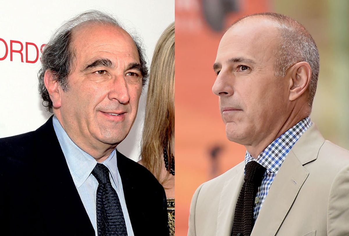 """Chairman of NBC News and MSNBC Andrew Lack and former """"Today Show"""" Co-host Matt Lauer (Michael Loccisano/Alberto E. Rodriguez/Getty Images)"""