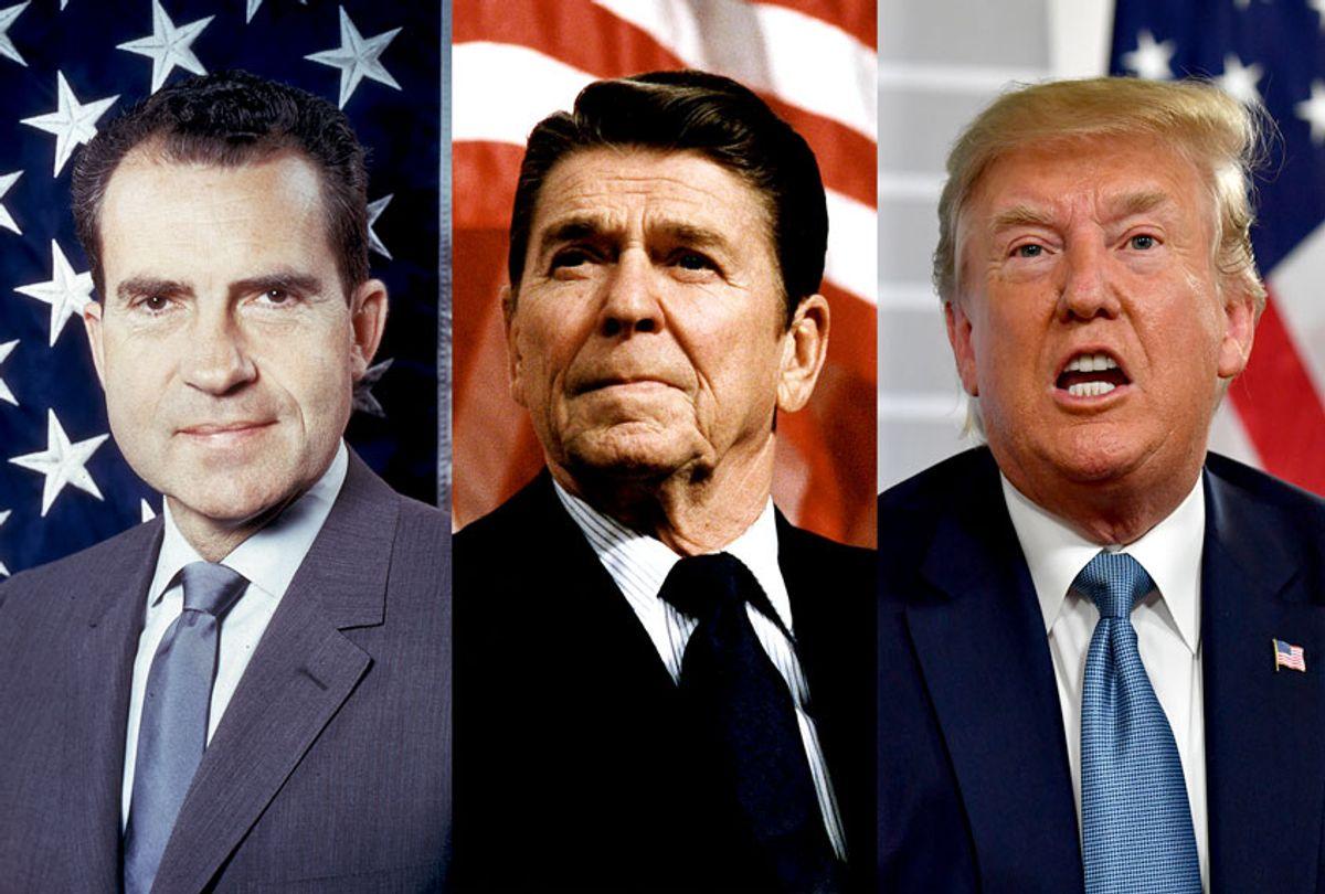 Richard Nixon, Ronald Reagan and Donald Trump (Getty Images/ AP Photo/ Salon)