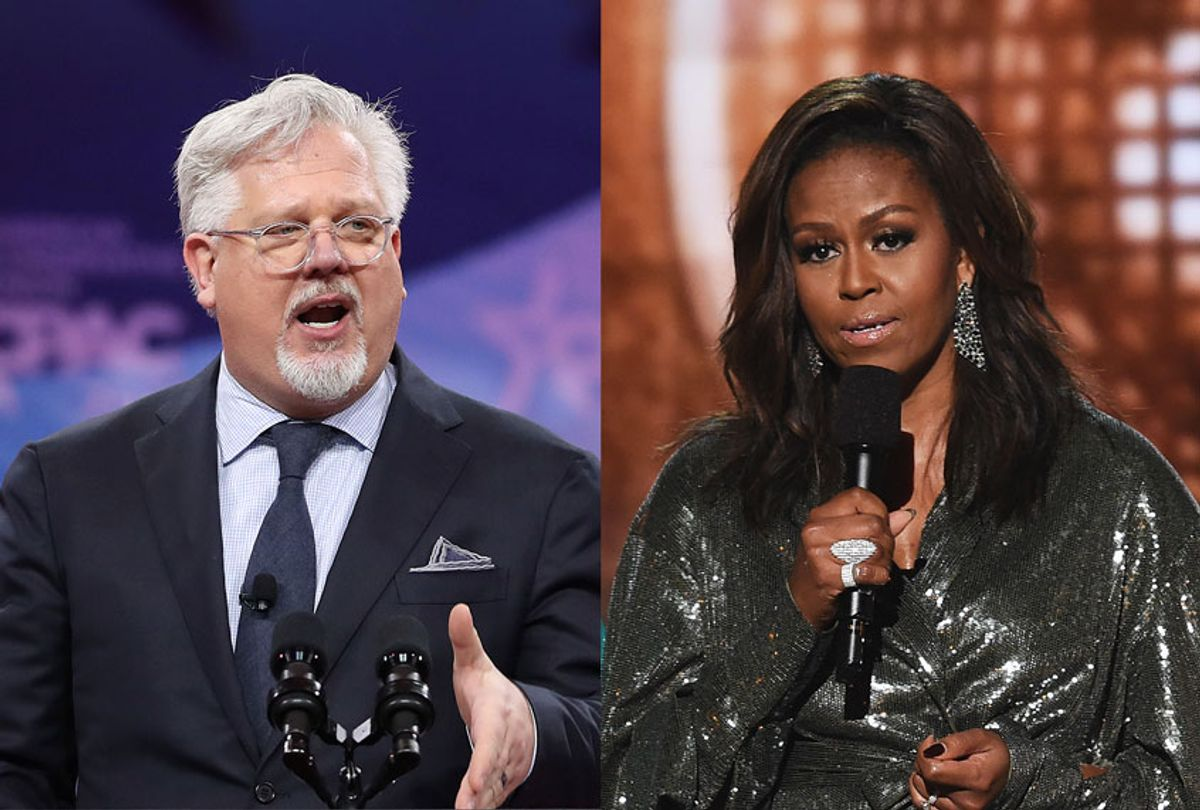 Glenn Beck and Michelle Obama (Mark Wilson/Kevin Winter/Getty Images)