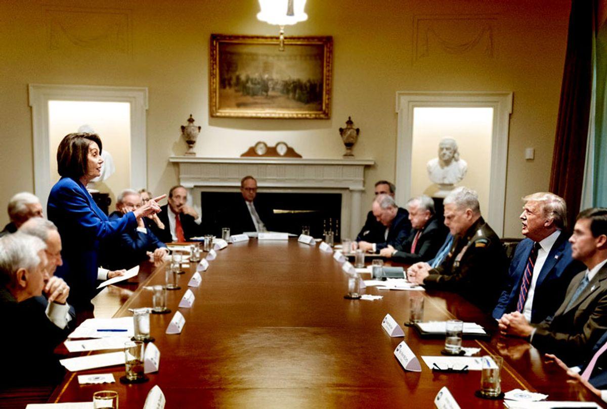Nancy Pelosi and Donald Trump (The White House)
