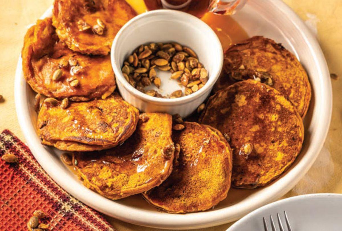 Pumpkin Cornmeal Cranberry Pancakes (Skyhorse Publishing)