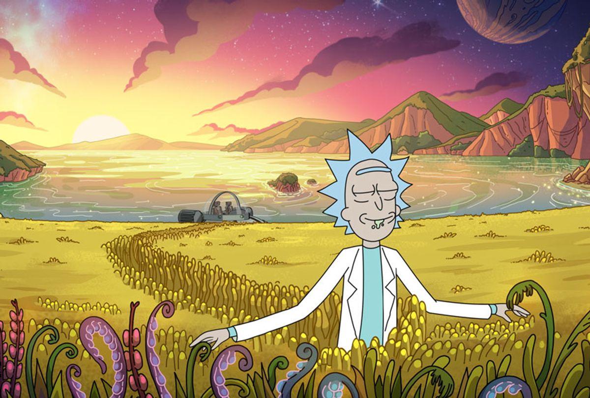 Rick appreciating the little things in season 4 of Rick and Morty. New season premieres in November. (Warner Media Group/Adult Swim)