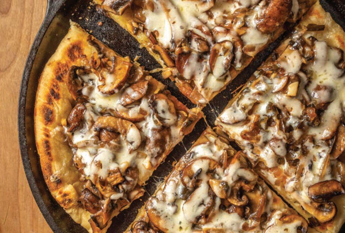 Sautéed Onion Mushroom Spicy Sweet Jalapeño Flatbread (Skyhorse Publishing)