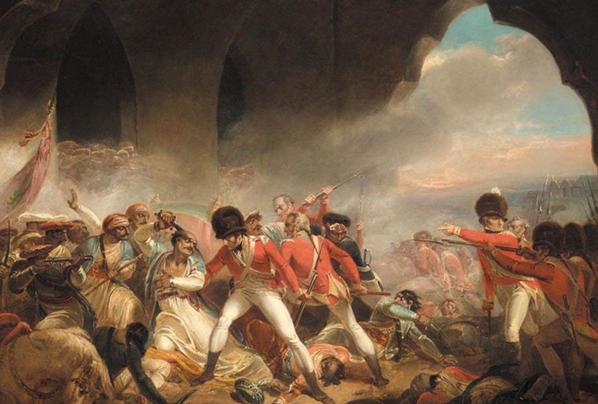 """""""The Last Effort and Fall of Tippoo Sultaun,"""" by Henry Singleton, c.1800 (Wiki Commons)"""