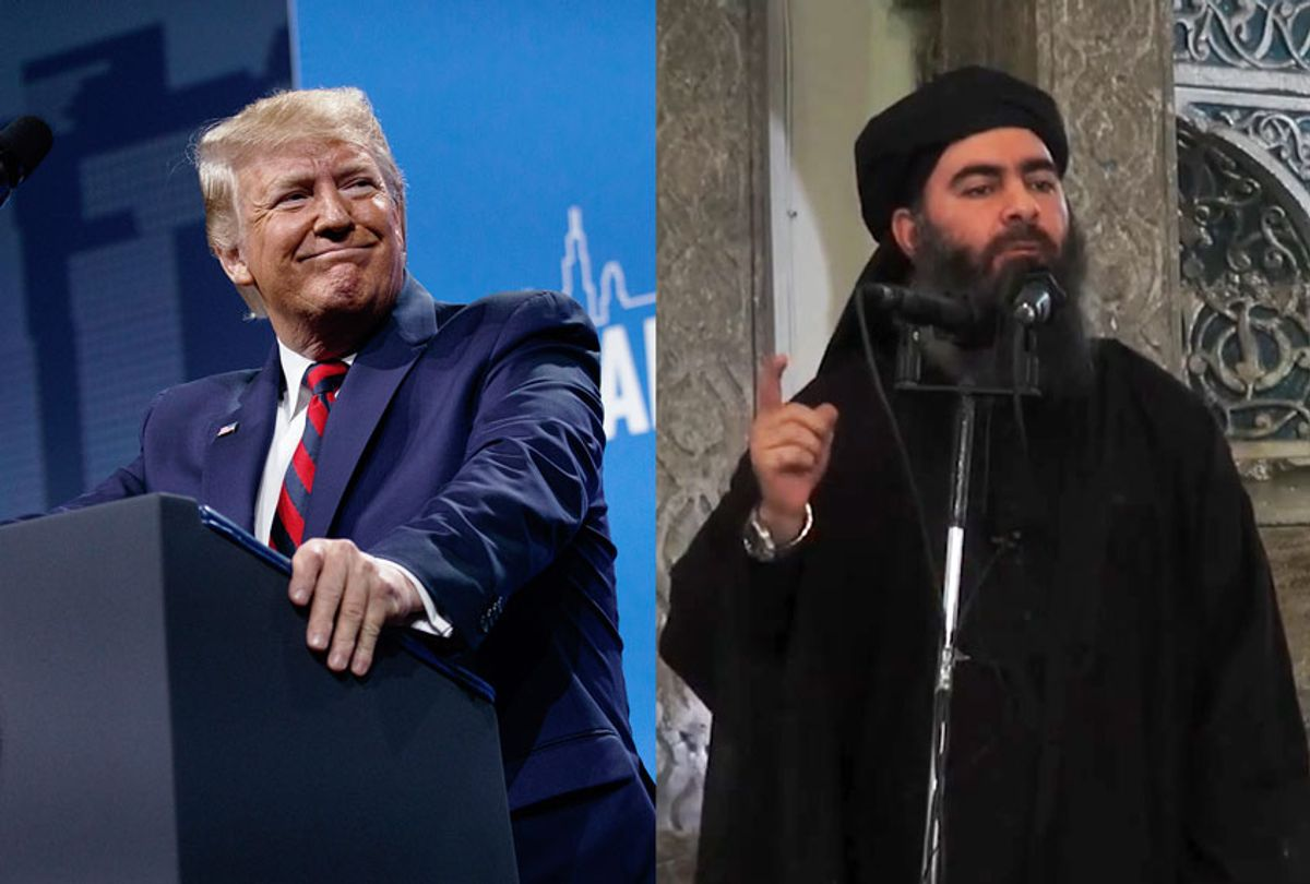 Donald Trump and Abu Bakr al-Baghdadi (Getty Images/AP Photo/Salon)