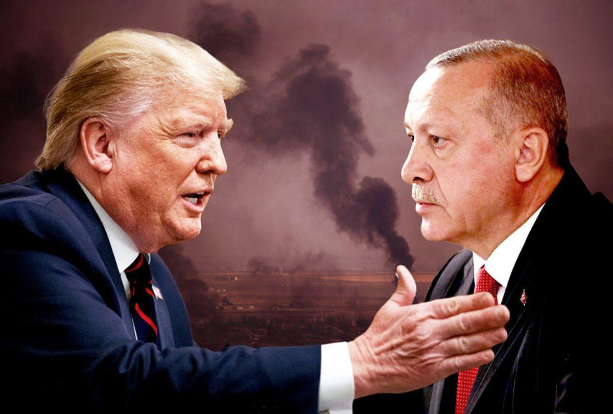 Donald Trump and Recep Tayyip Erdogan (AP Photos/Salon)