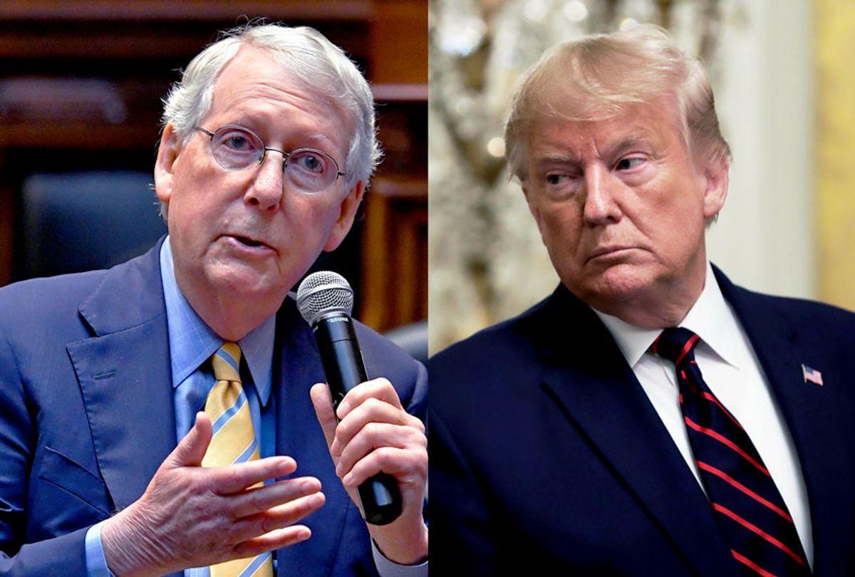 Senate Majority Leader Mitch McConnell and President Donald Trump (AP Photo/Evan Vucci/Timothy D. Easley/Salon)