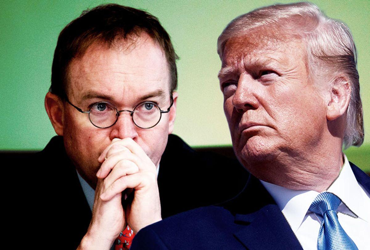 Mick Mulvaney and Donald Trump (AP Photo/Salon)