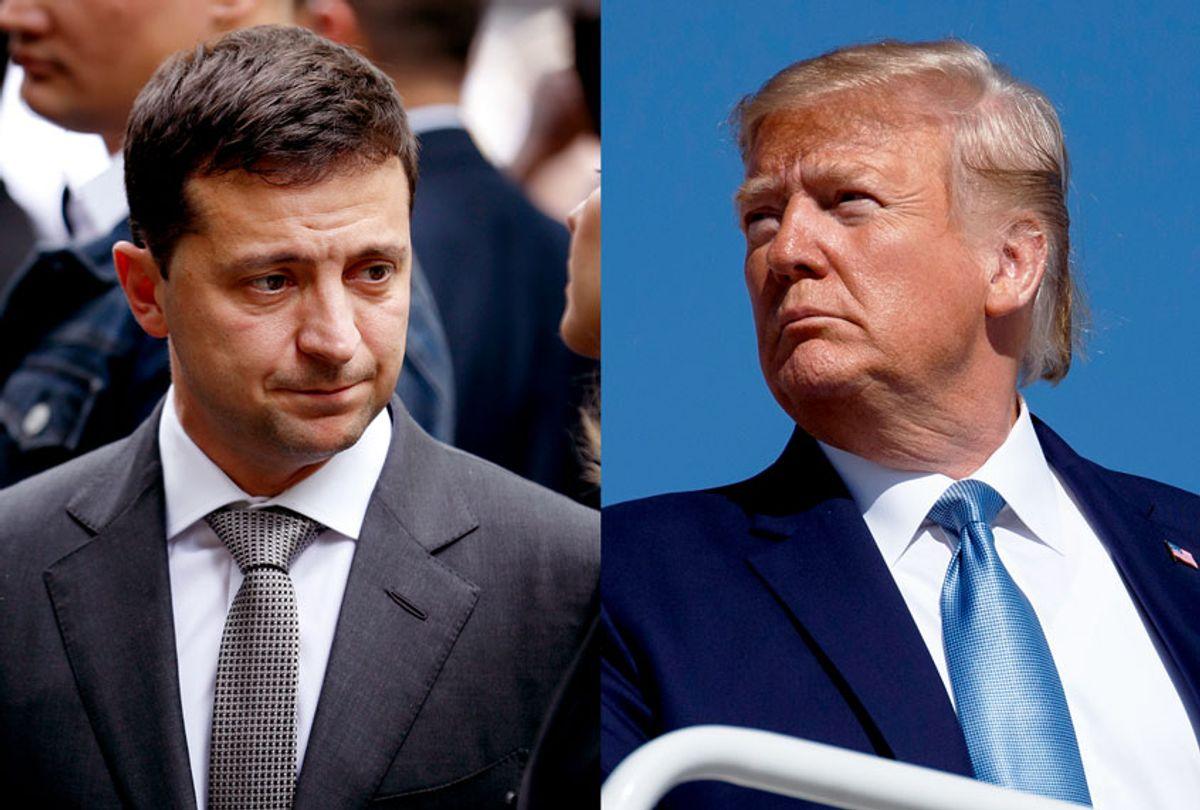 Ukraine President Volodymyr Zelenskiy and US President Donald Trump (AP Photo/Seth Wenig/Evan Vucci)