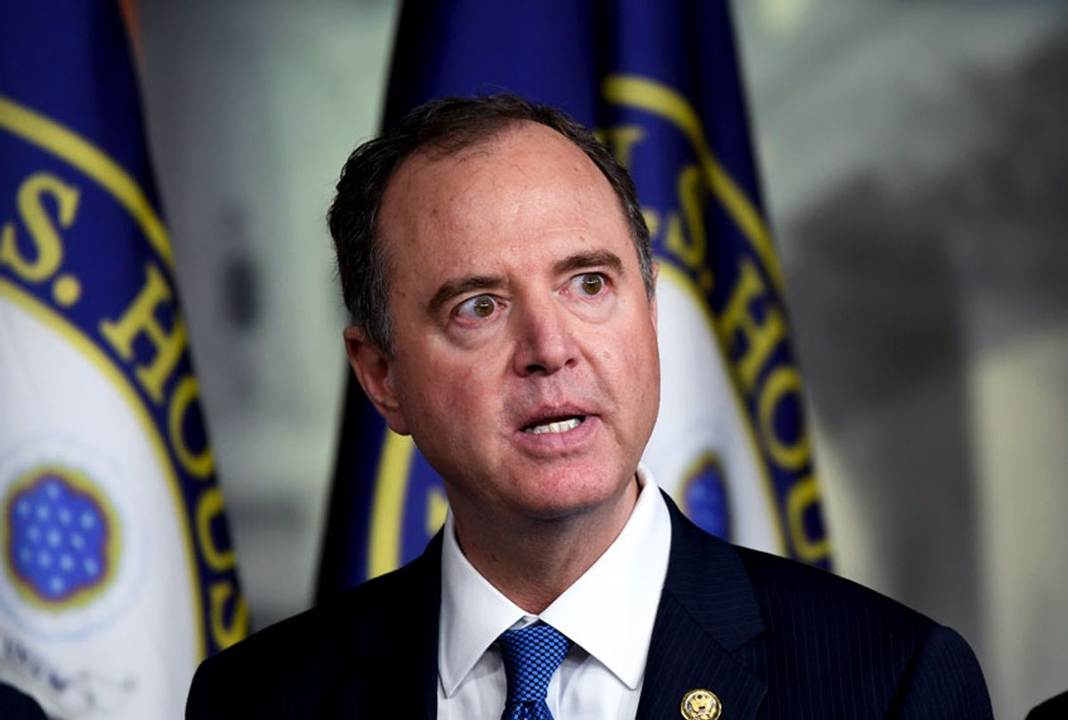 House Intelligence Committee Chairman Adam Schiff, D-Calif., speaks during a news conference on Capitol Hill in Washington, Thursday, Oct. 31, 2019.  (AP Photo/Susan Walsh)