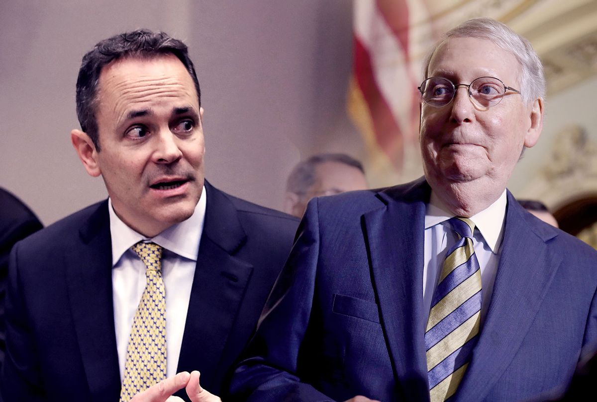 Kentucky Governor Matt Bevin and Senate Majority Leader Mitch McConnell (Getty Images/Salon)