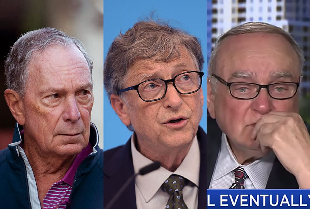 Michael Bloomberg, Bill Gates and Leon Cooperman (Getty Images/CNBC)