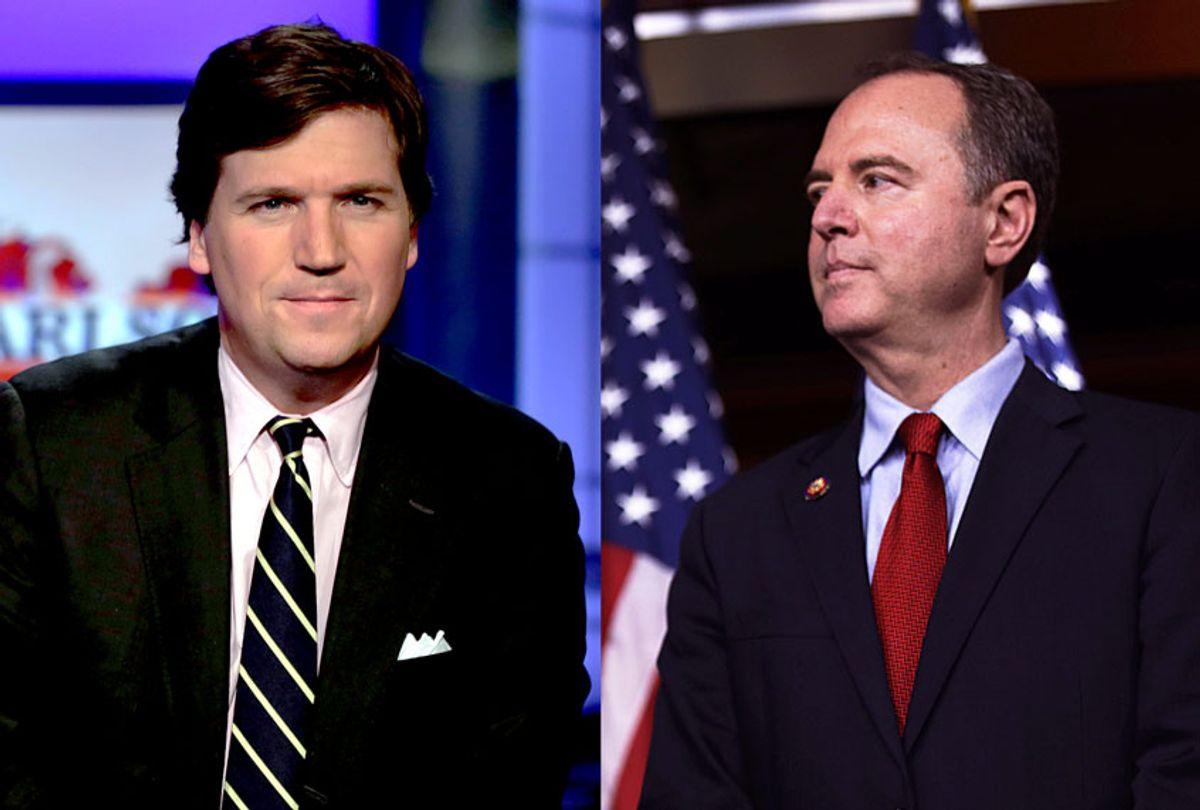 Tucker Carlson and Adam Schiff (Getty Images/AP Photo/Salon)
