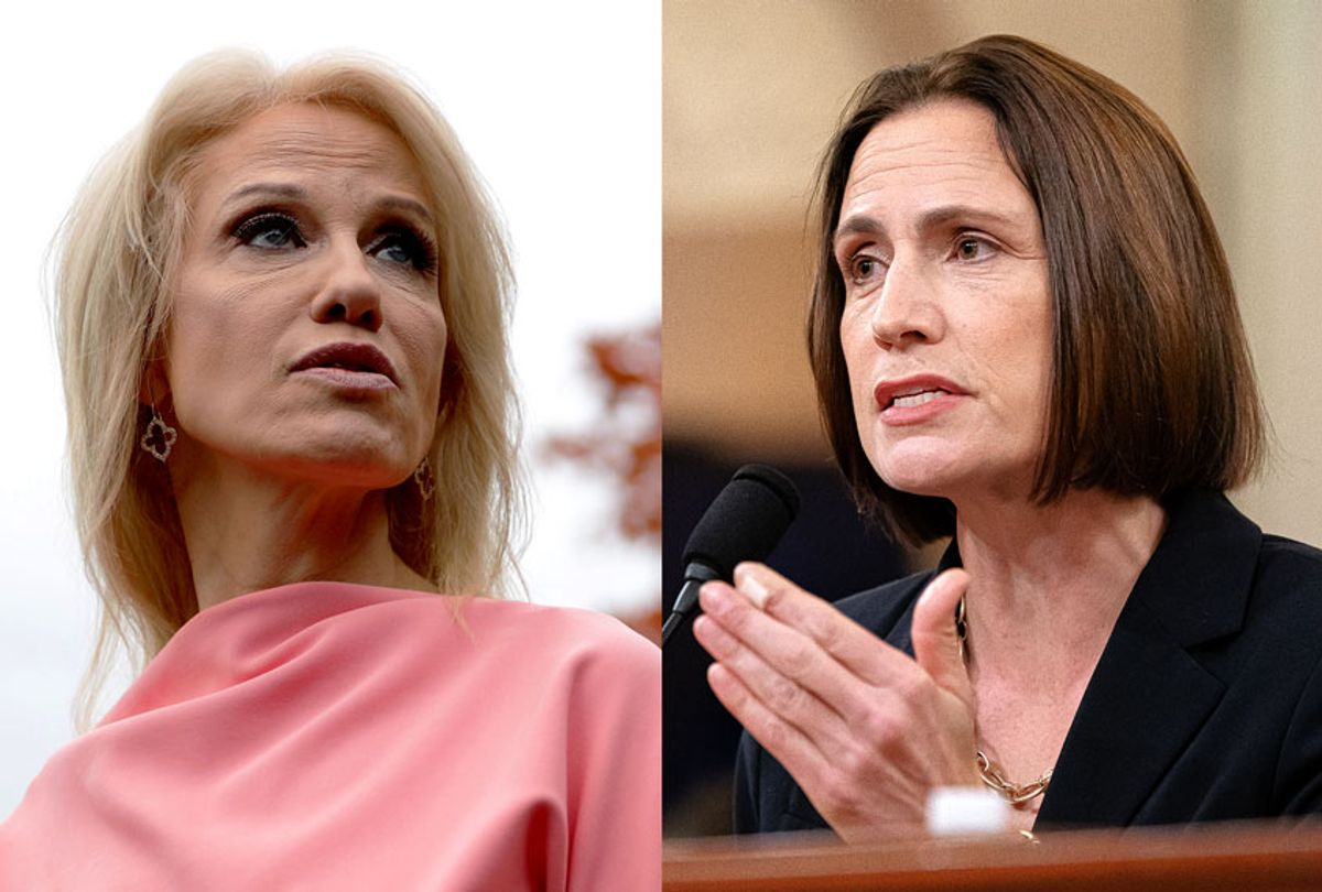 Kellyanne Conway and Fiona Hill (Geyy Images/Jeff Malet Photography)