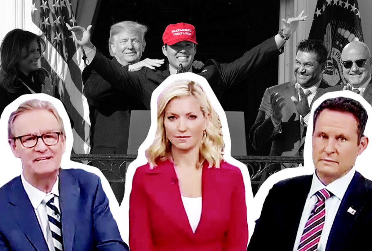 "Kurt Suzuki wore a MAGA hat, and Fox & Friends come to defend his ""fashion choice"" (Getty Images/Fox News/Salon)"