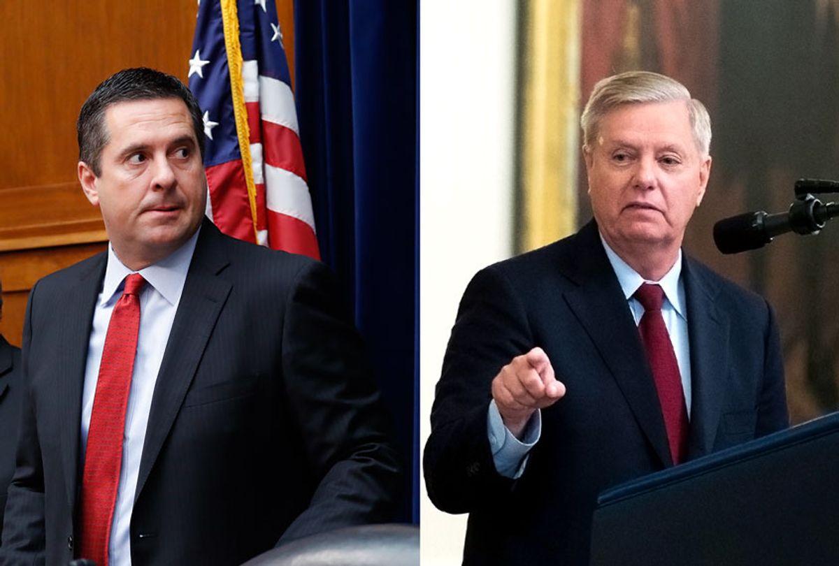 Rep. Devin Nunes and Sen. Lindsey Graham (AP Photo/Pablo Martinez Monsivais/Manuel Balce Ceneta)