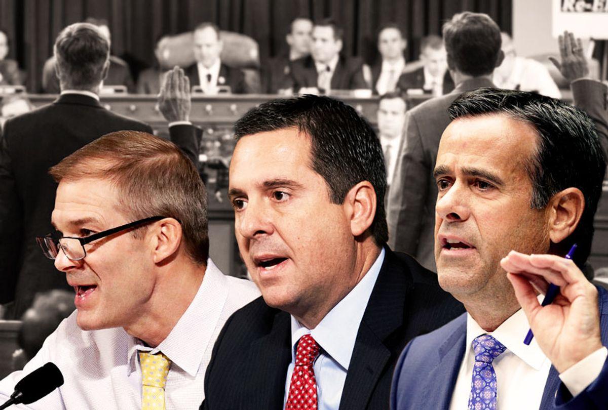 Jim Jordan, Devin Nunes and John Ratcliffe (AP Photo/Getty Images/Salon)