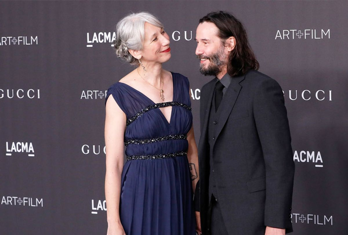 Alexandra Grant and Keanu Reeves attend the 2019 LACMA Art + Film Gala at LACMA on November 02, 2019 in Los Angeles, California.  (Taylor Hill/Getty Images)