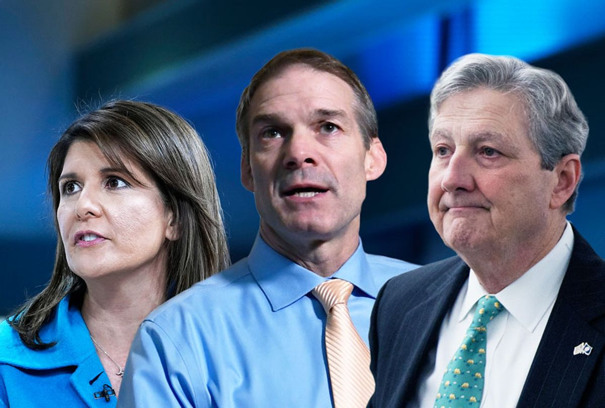 NIkki Haley, John Kennedy and Jim Jordan (AP Photo/Getty Images/Salon)