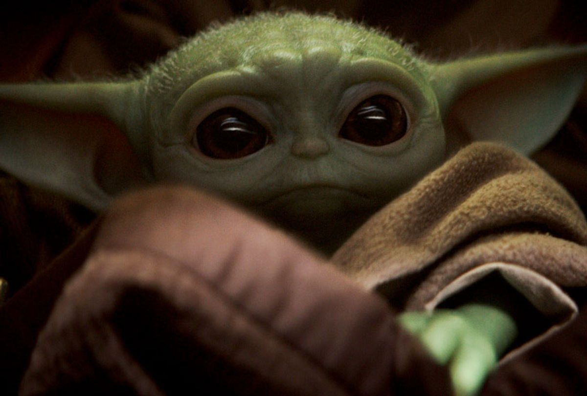 The Child is a mysterious alien pursued by bounty hunters on behalf of Imperial interests.  (Disney+)