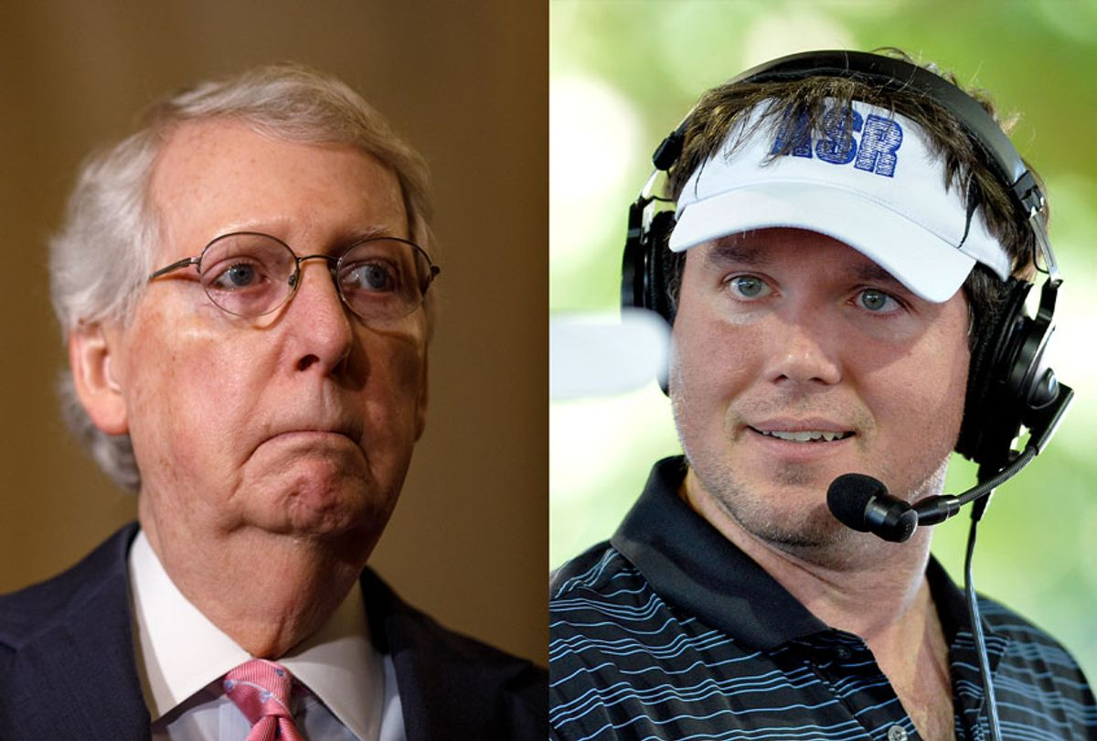 Mitch McConnell and Matt Jones (Getty Images/AP Photo)