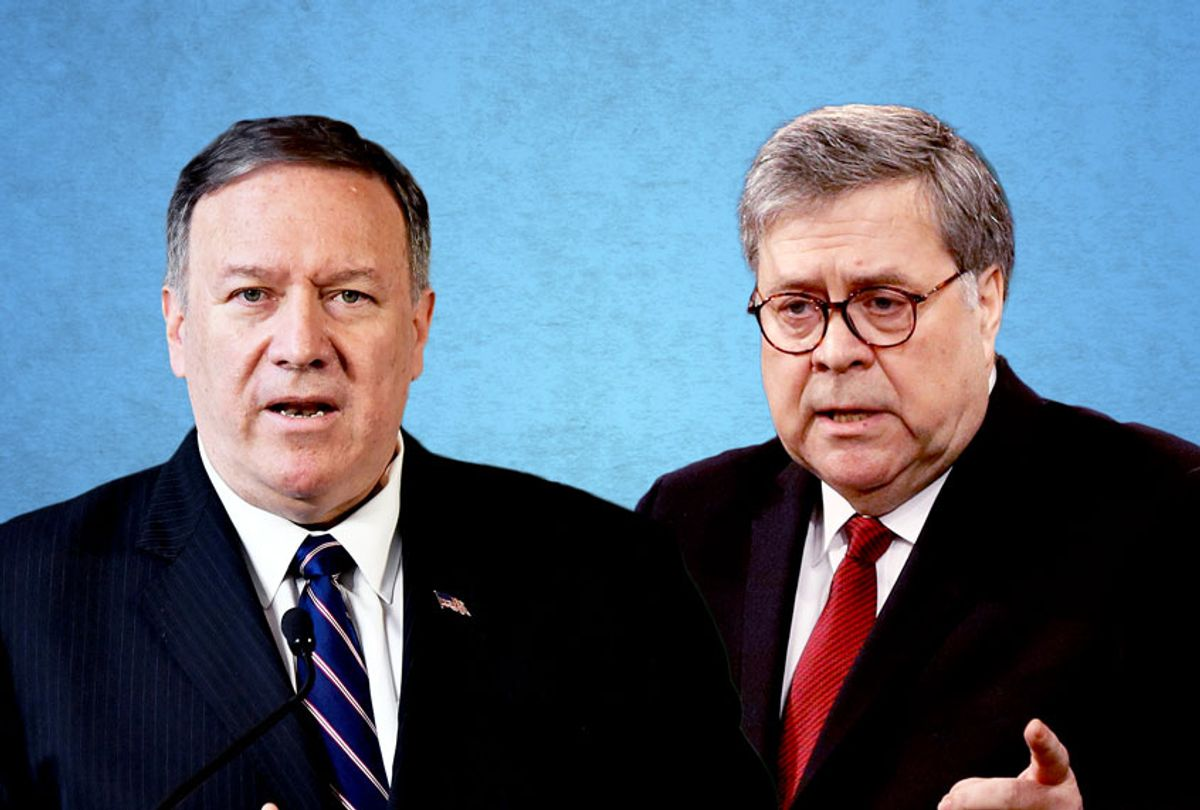 Mike Pompeo and Bill Barr (Getty Images/AP Photo/Salon)