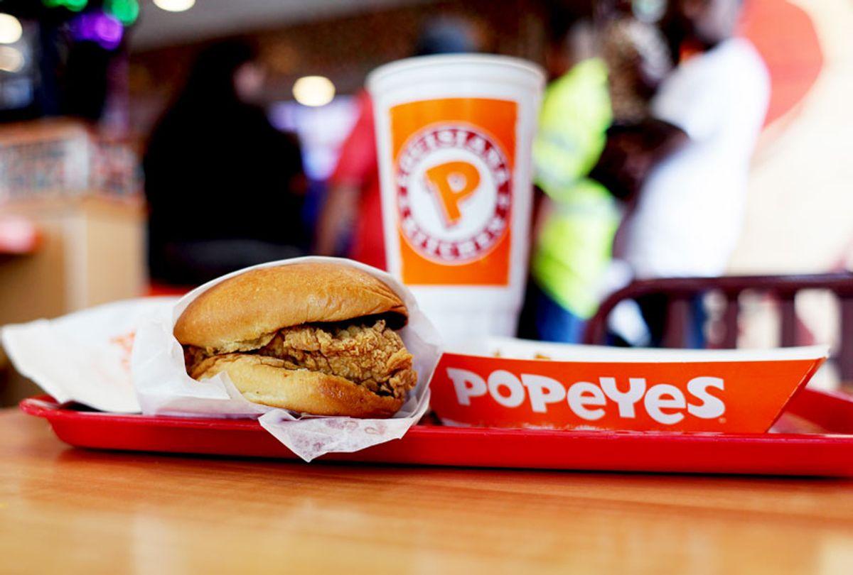 The Popeyes Chicken Sandwich (AP Photo/Eric Gay)