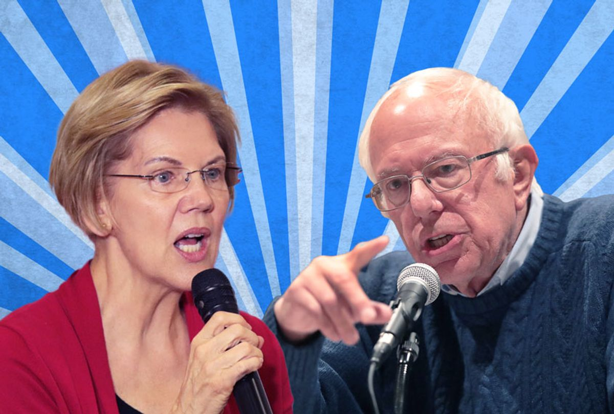 Bernie Sanders and Elizabeth Warren (Getty Images/Salon)