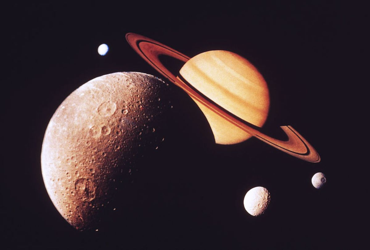 Saturn with moons (Getty Images)