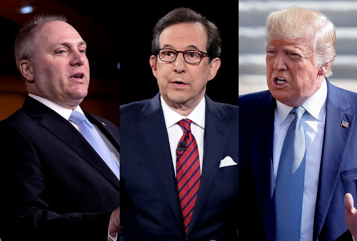 Rep. Steve Scalise, Fox News anchor Chris Wallace, and US President Donald Trump (AP Photo/Pablo Martinez Monsivais/Joe Raedle/Drew Angerer/Getty Images)