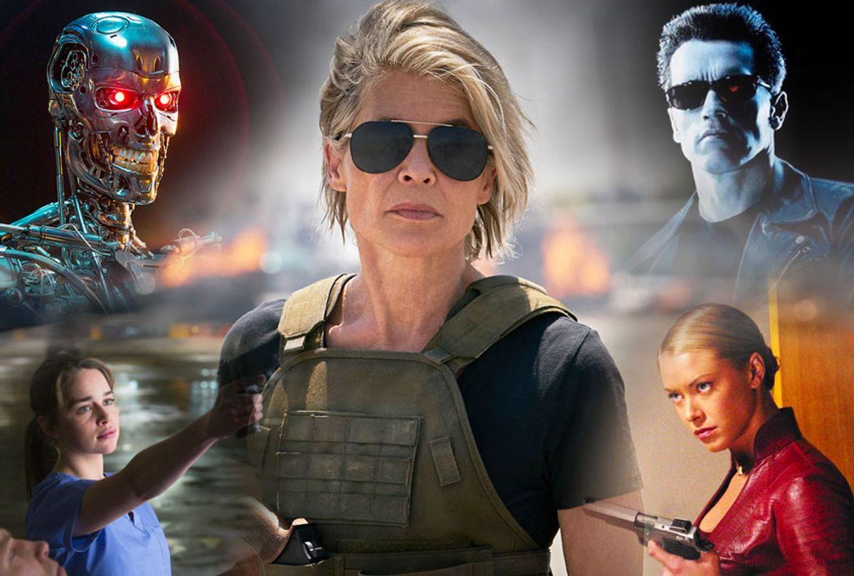 Stills from Terminator franchise films (Paramount Pictures/HBO/Warner Bros./Salon)