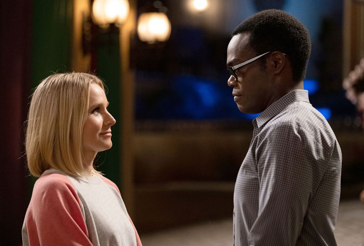 """Kristen Bell as Eleanor, William Jackson Harper as Chidi in """"The Good Place"""" (Colleen Hayes/NBC)"""