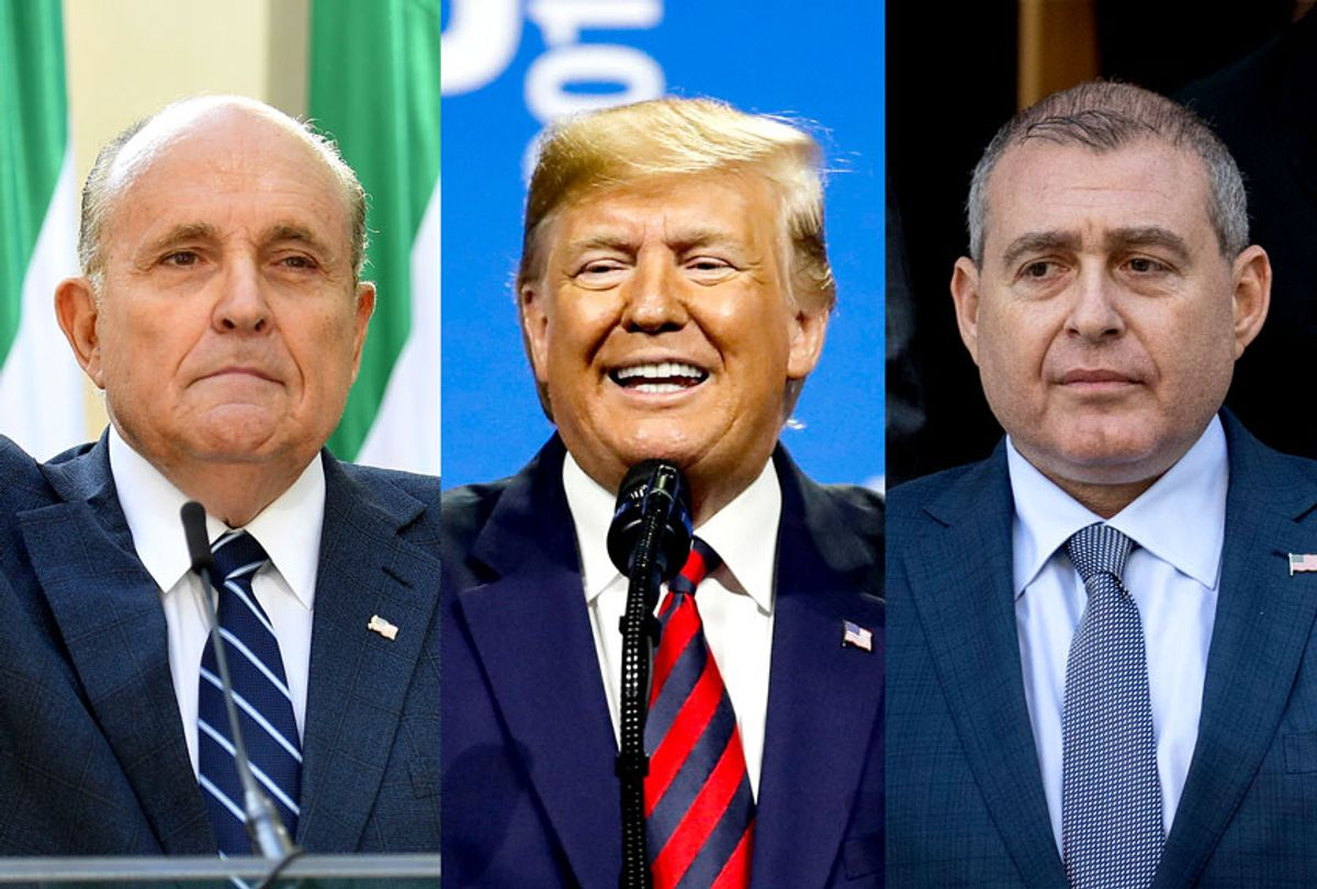 Rudy Giuliani, Donald Trump and Lev Parnas (Getty Images/Salon)