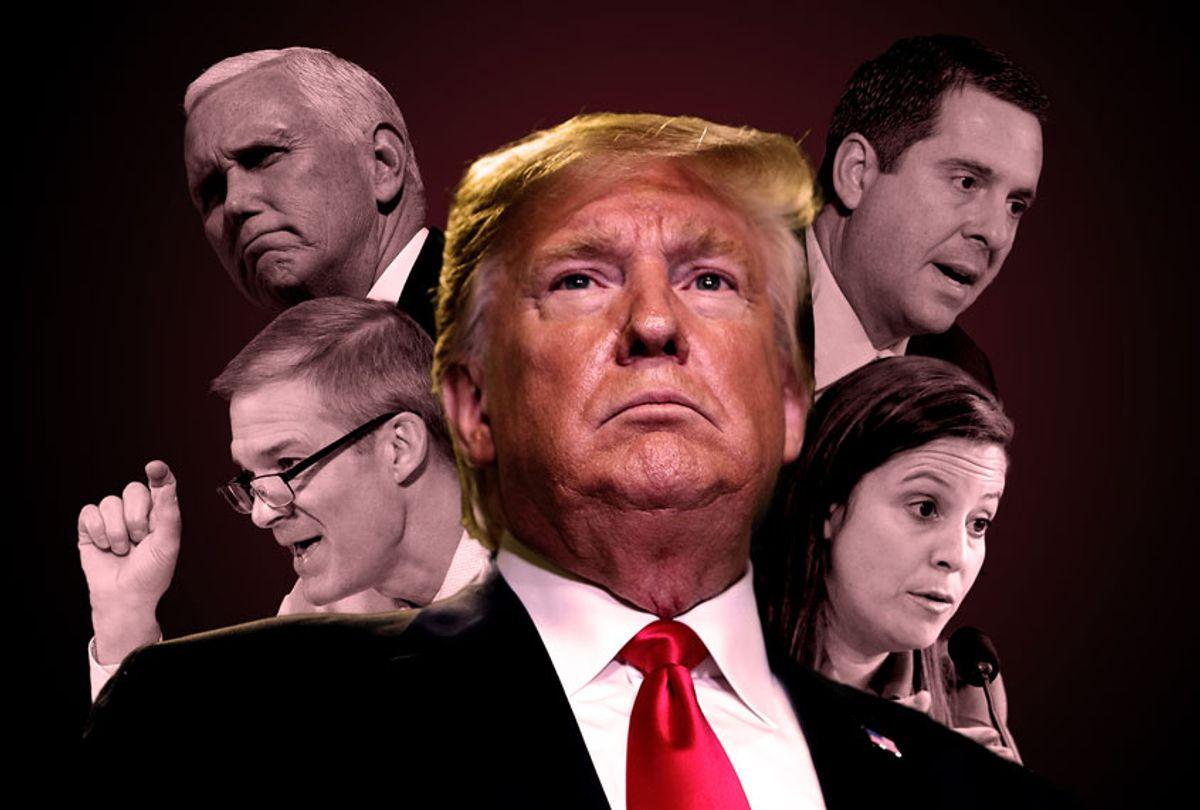 Donald Trump, Devin Nunes, Jim Jordan, Mike Pence and Elise Stefanik (Getty Images/AP Photo/Salon)