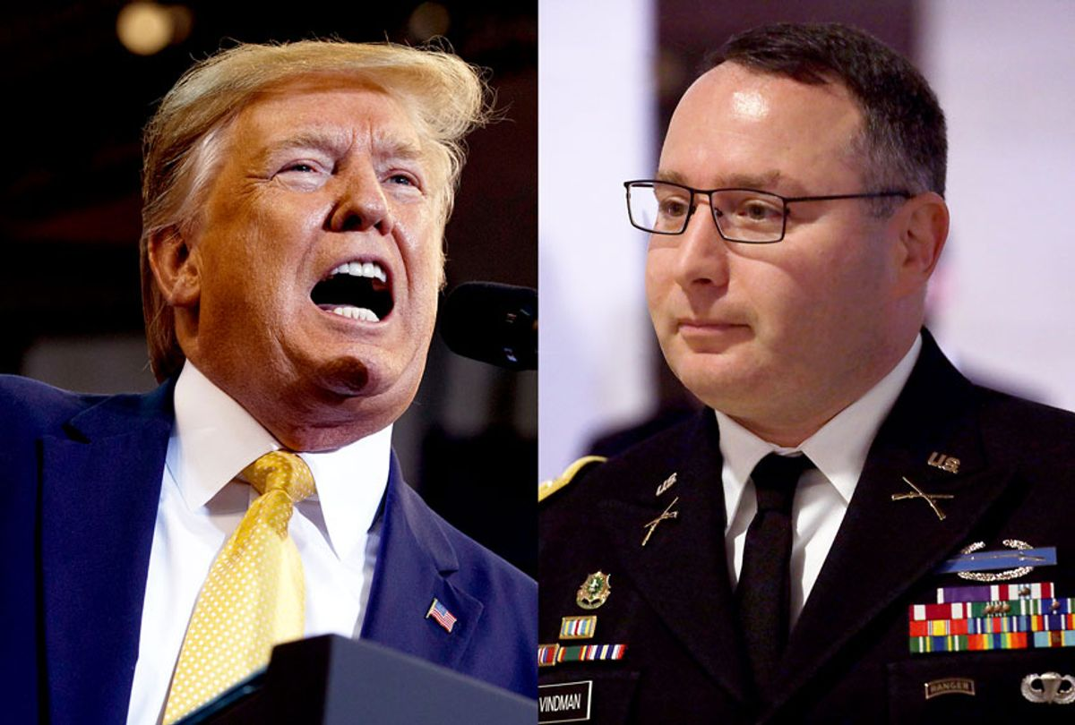 Donald Trump and Alexander Vindman (Getty Images/AP Photo/Salon)