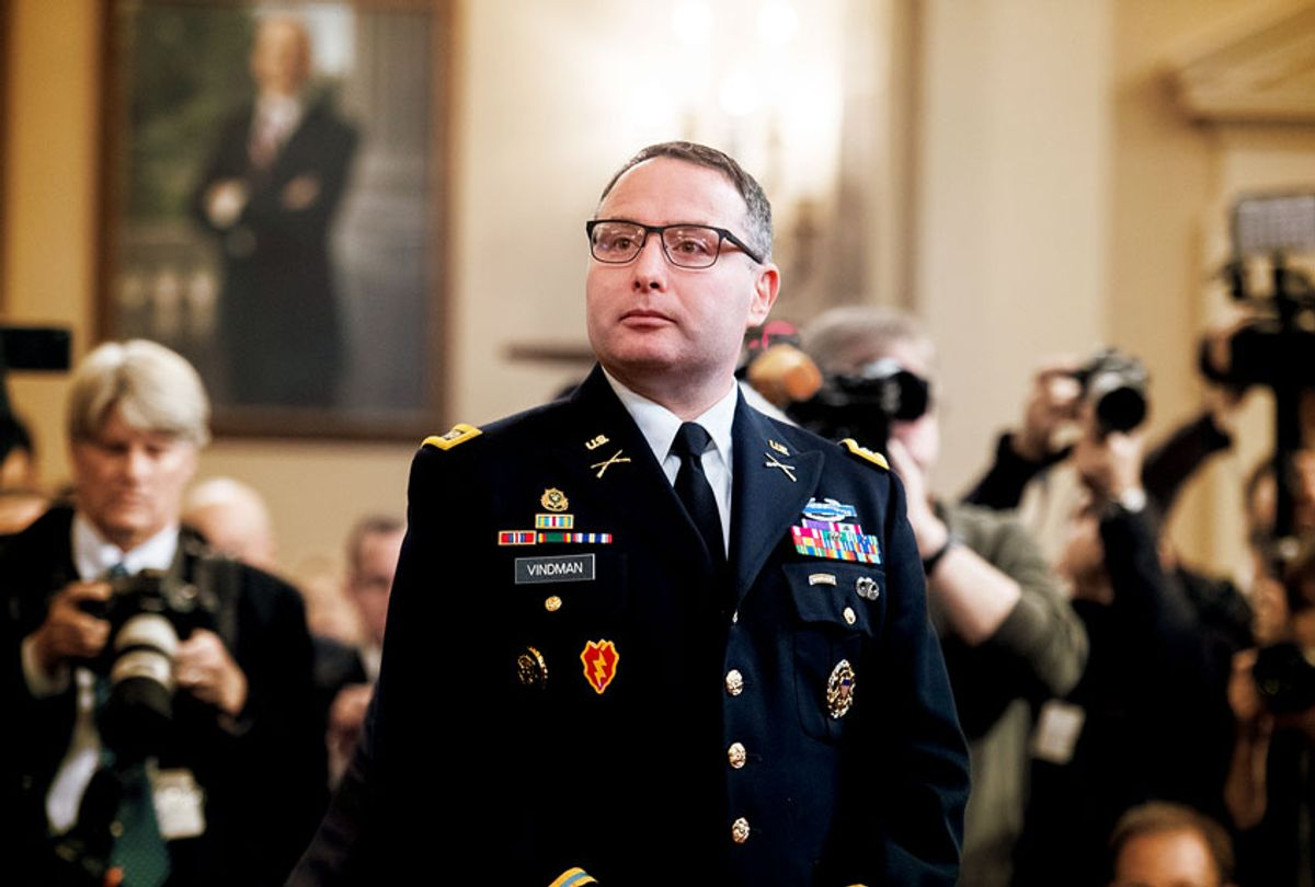 Lt. Col. Alexander Vindman, director of European affairs at the National Security Council (Tom Williams/CQ-Roll Call, Inc via Getty Images)