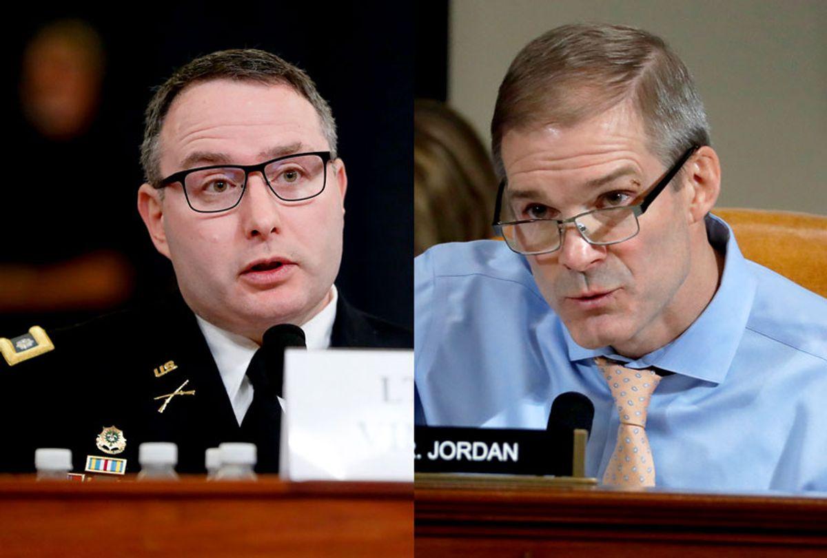 Alexander Vindman and Jim Jordan (Getty Images/AP Photo)