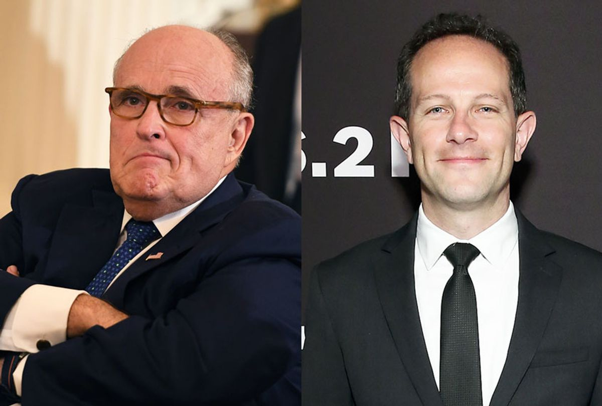 Ken Vogel and Rudy Giuliani (Getty Images)