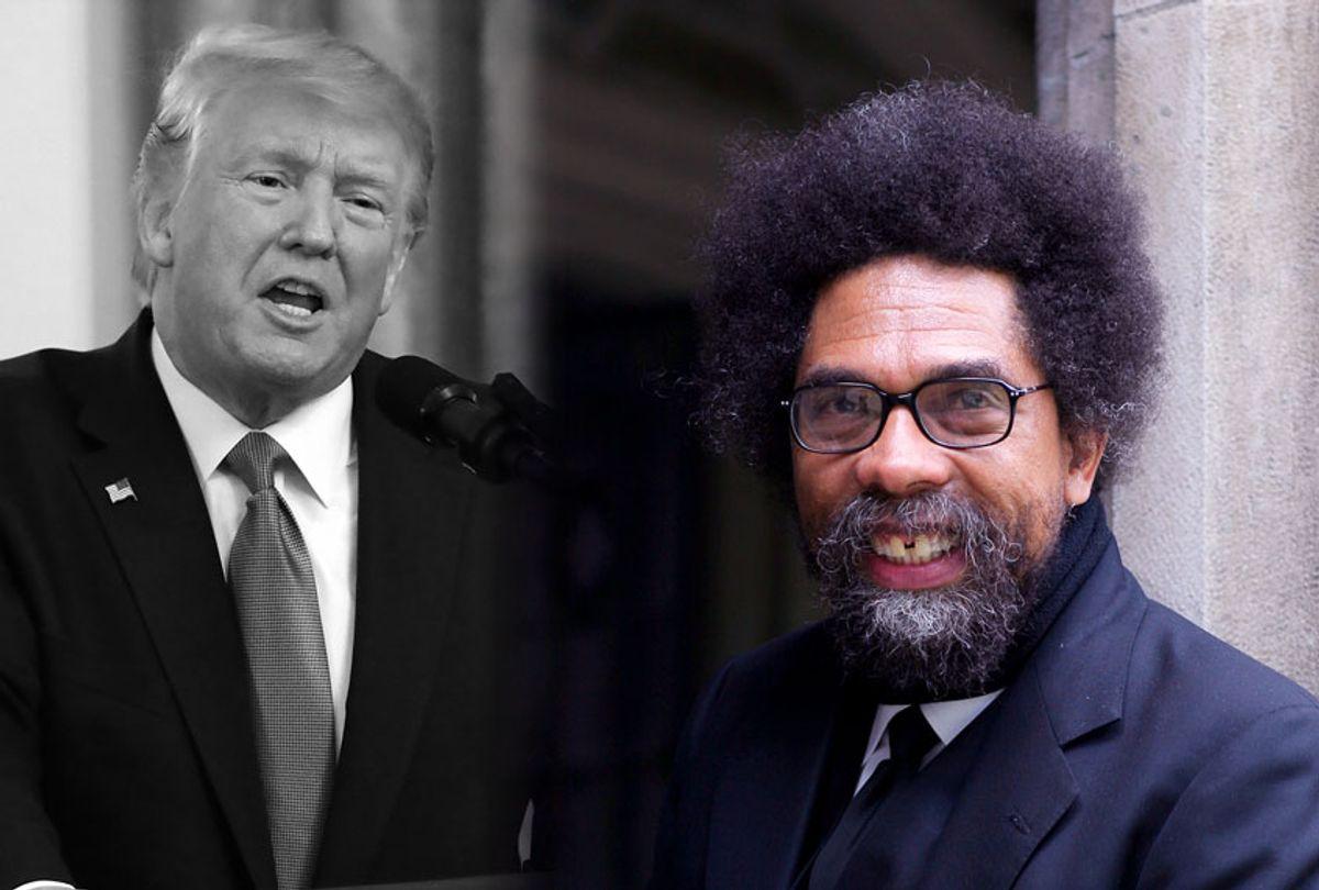 Cornel West and Donald Trump (Chauncey DeVega/Getty Images/Chip Somodevilla)
