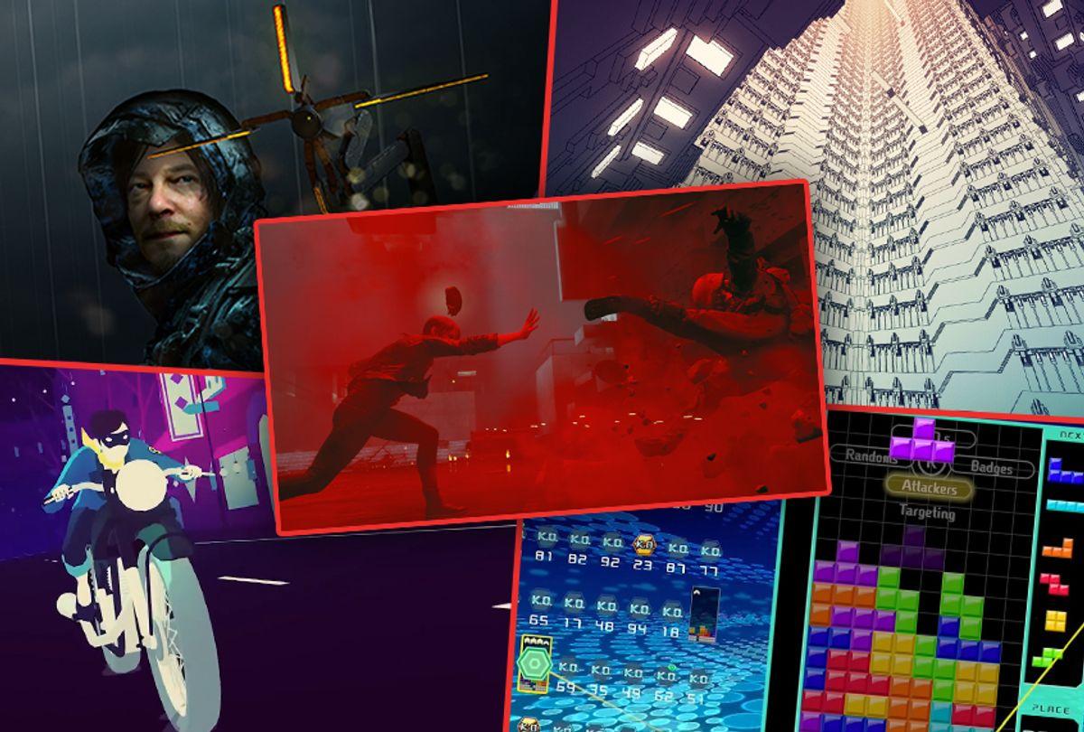 Death Stranding, Manifold Garden, Sayonara Wild Hearts, Tetris 99 and Control (Kojima Productions, William Chyr Studio, Simogo, Nintendo, Remedy Entertainment)