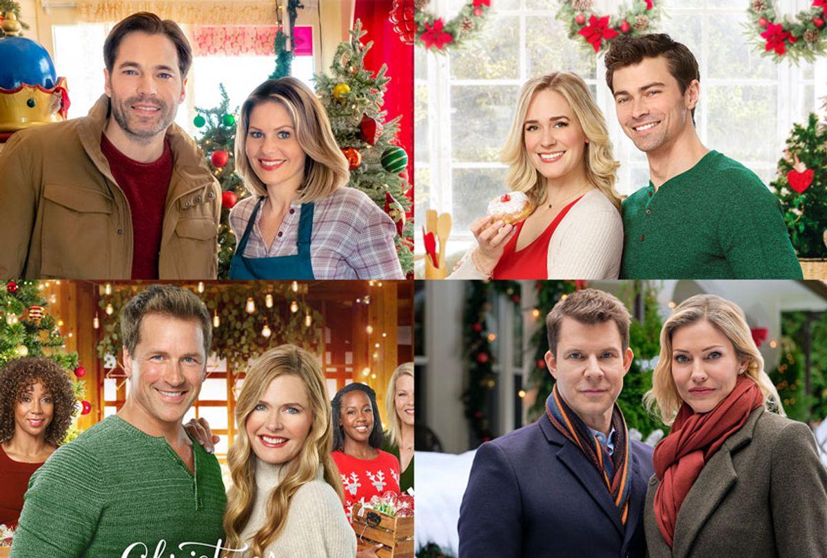 Various couples from Hallmark Christmas movies (Hallmark Channel)