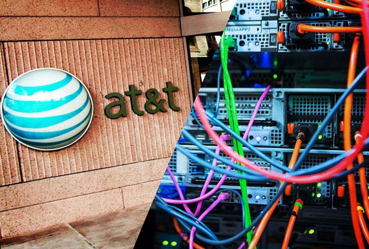 AT&T Headquarters and Servers (Getty Images/Salon)