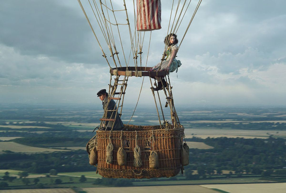 Eddie Redmayne and Felicity Jones in THE AERONAUTS (Courtesy of Amazon Studios)