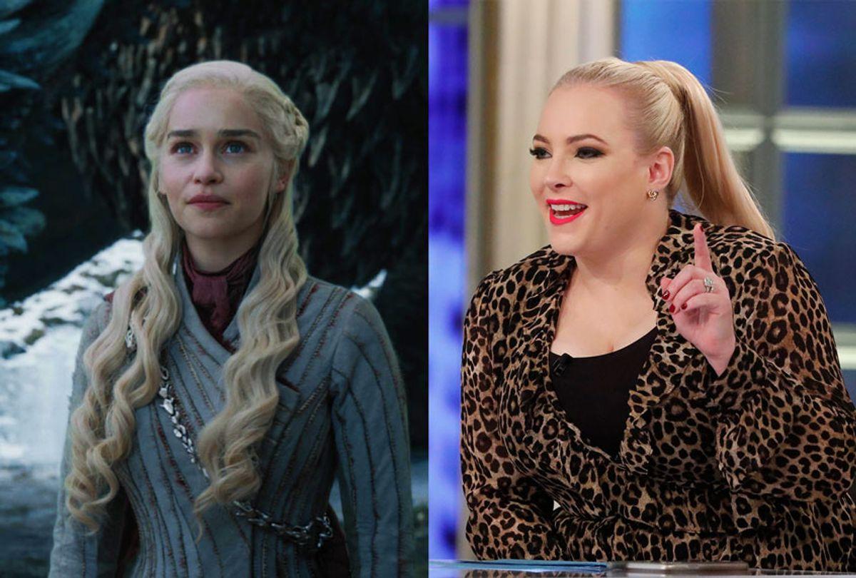Meghan McCain and Daenerys Targaryen (ABC/Lou Rocco/HBO/)