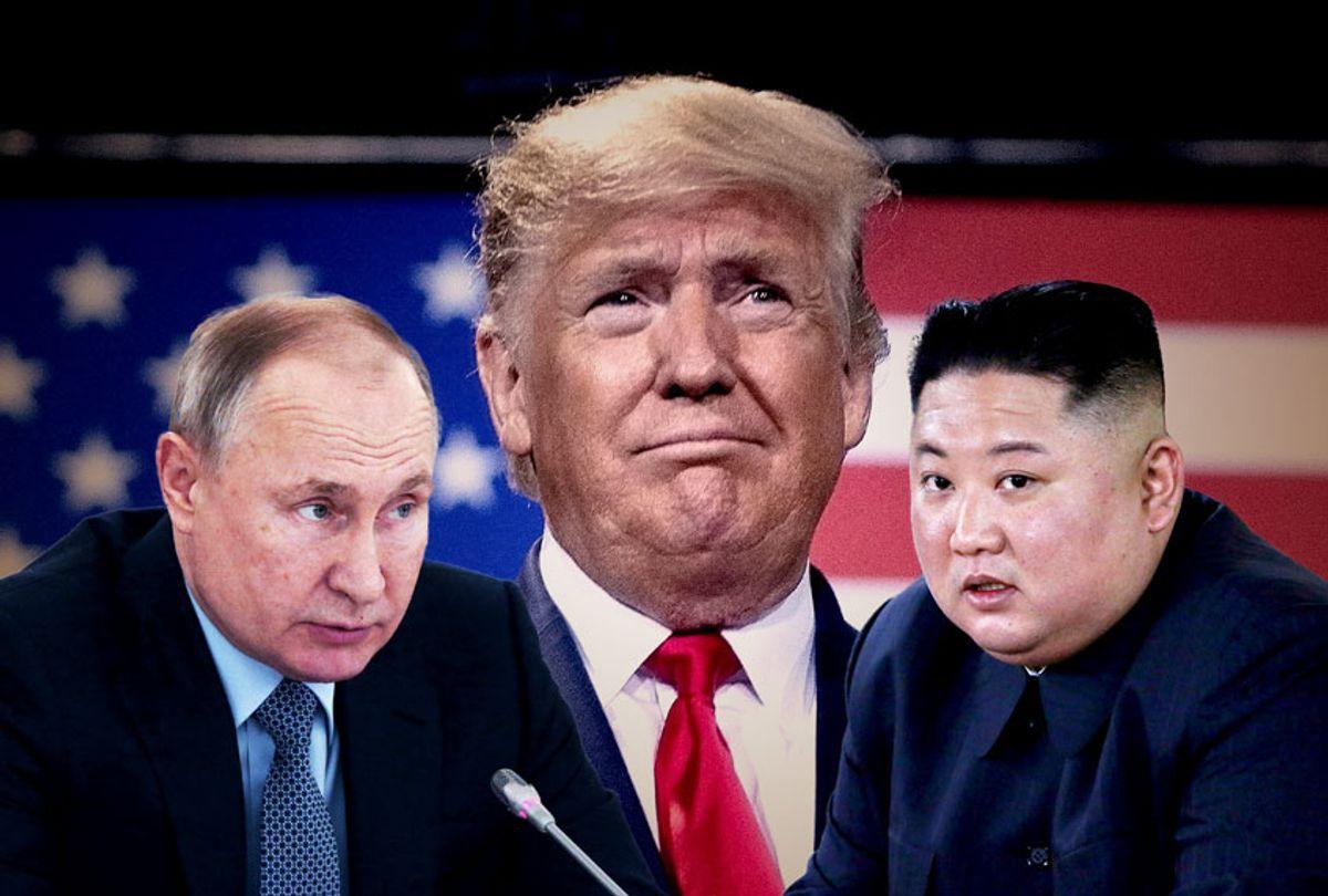 Donald Trump, Vladimir Putin, and Kim Jong Un (Getty Images/Brendan Smialowski/AFP/Mikhail Svetlov/Salon)