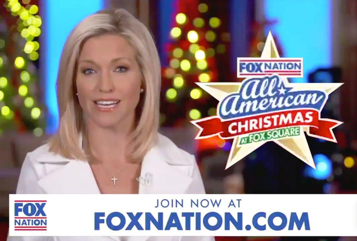 Ainsley Earhardt advertising the All American Christmas (Fox News)