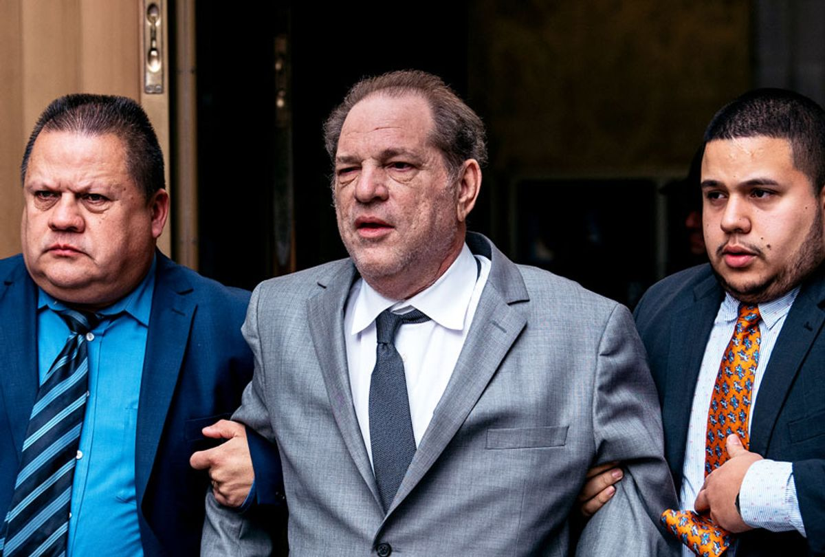 Harvey Weinstein leaves New York City Criminal Court after a bail hearing on December 6, 2019 in New York City. The Oscar-winning producer appeared in court for a proceeding to evaluate his bail in part of reforms set to take effect Jan. 1 throughout New York State.  (Scott Heins/Getty Images)